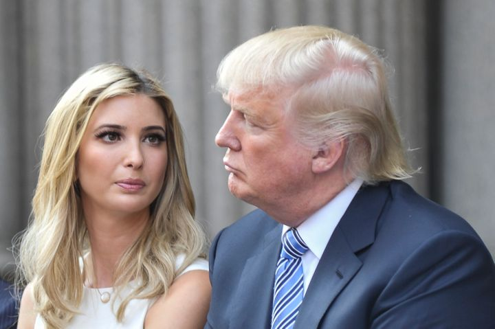 Ivanka Trump and Donald Trump attend the Trump International Hotel Washington, D.C Groundbreaking Ceremony at Old Post Office