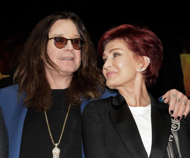 Ozzy Osbourne and Sharon Osbourne on May 12, 2016, in Hollywood, California.