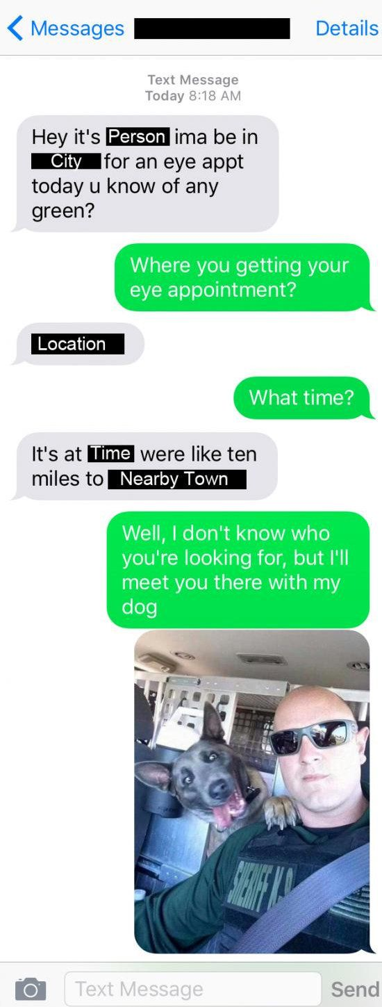 Person Looking For Drugs Accidentally Texts Local Sheriff With