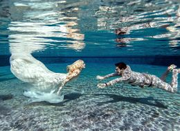 Newlyweds' Underwater Wedding Photos Are Like Something From A Fairytale