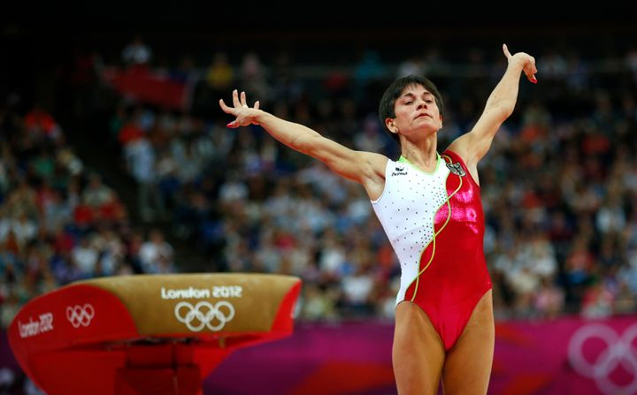 Oksana Chusovitina at the London 2012 Olympics
