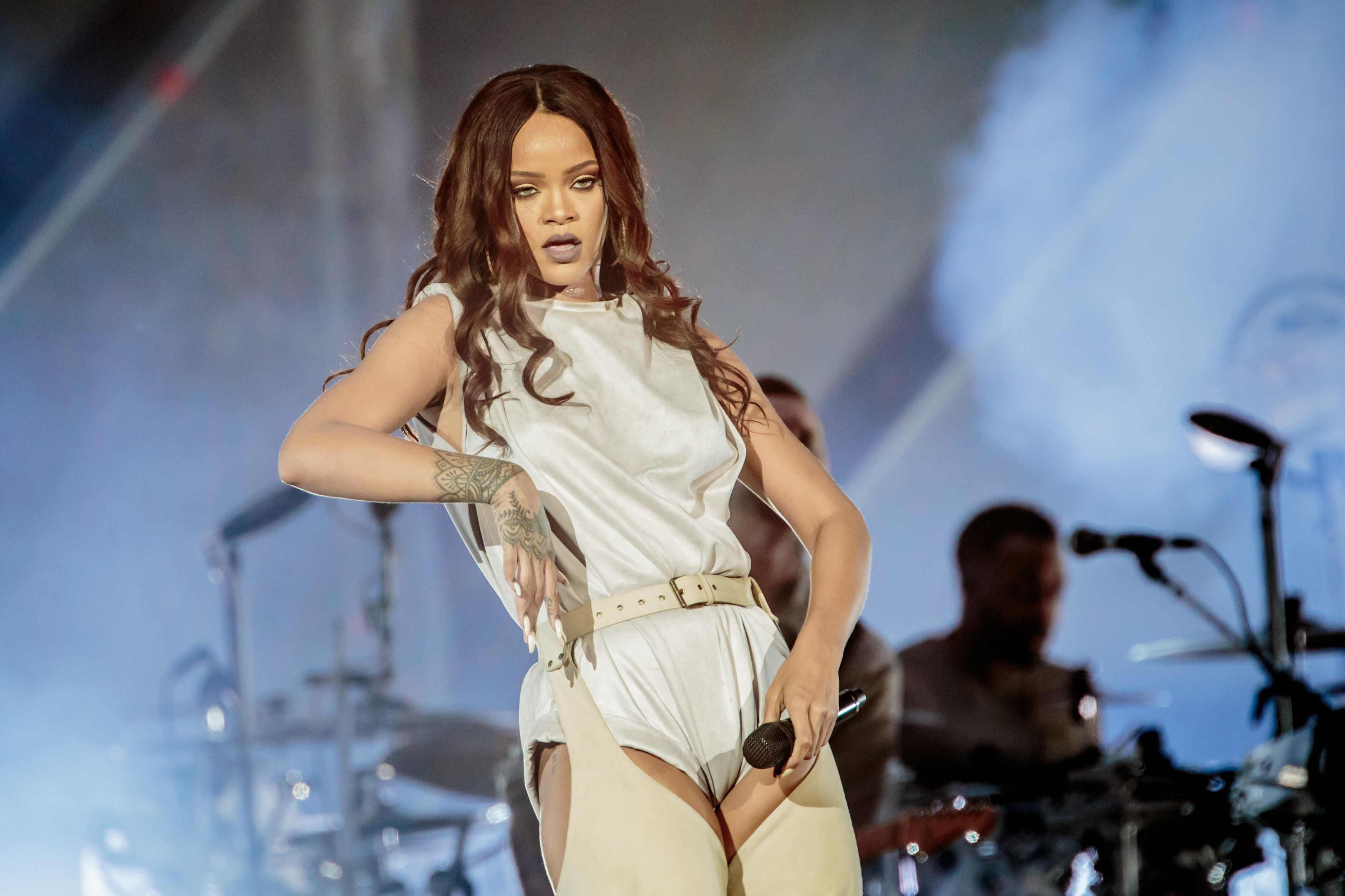 Rihanna performs in Milan, Italy, on July 13.