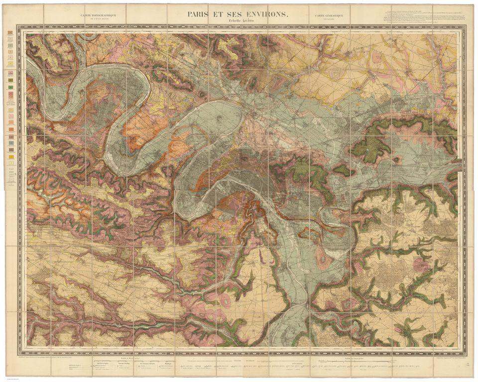 48.8742° N, 2.3470° E, Service Géologique des Mines,
