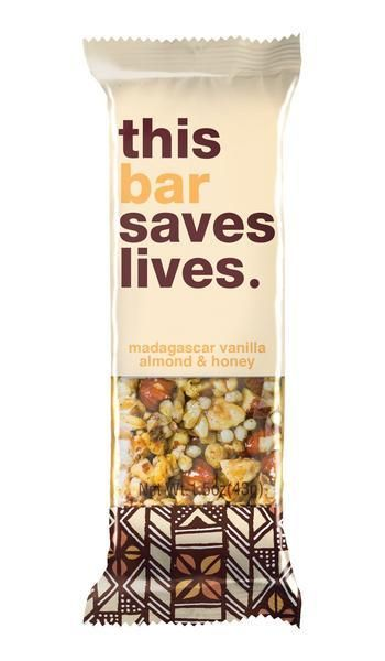 "<a href=""http://www.thisbarsaveslives.com/"">This Bar Saves Lives</a> puts its mission right in its name. These gluten-free no"