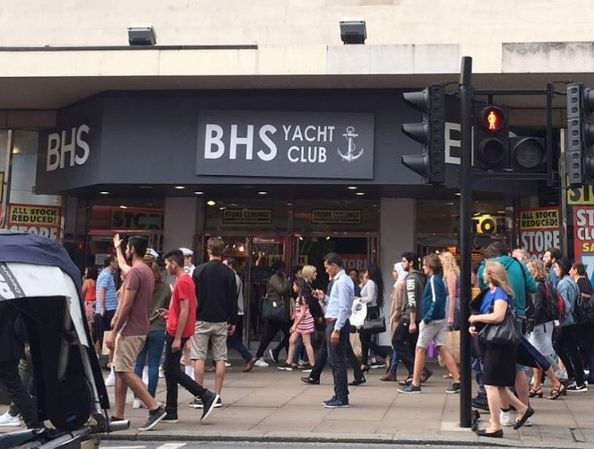 Scenes outside the soon-to-be closed BHS store targeted by