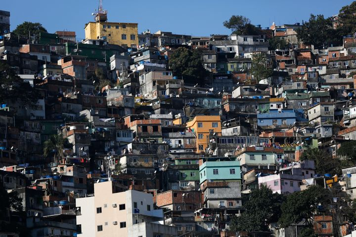 """A general view of the Rocinha favela, one of the slums that was included in the """"police pacification unit"""" program that began"""