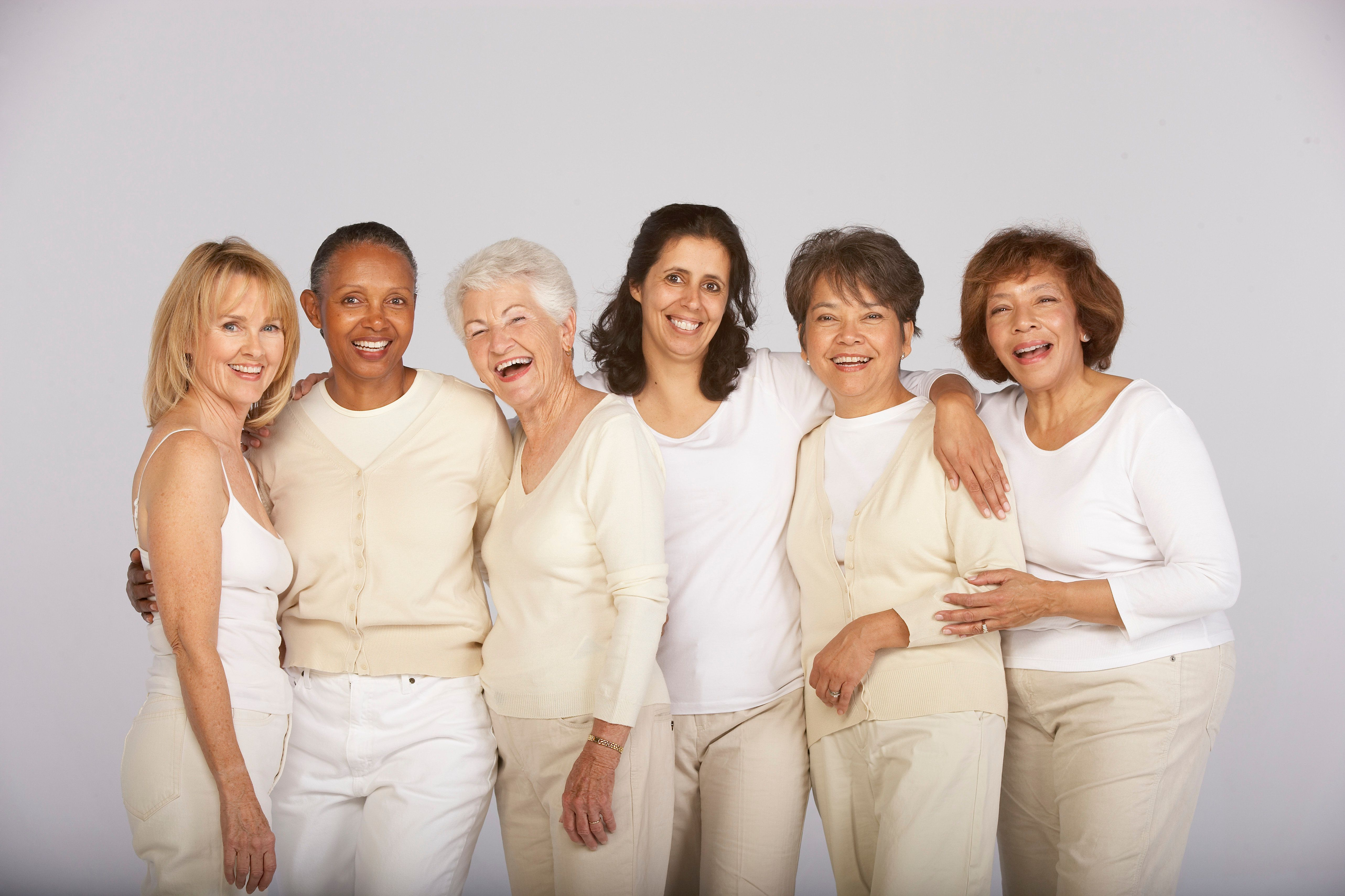 Group of mature and senior women, smiling, portrait