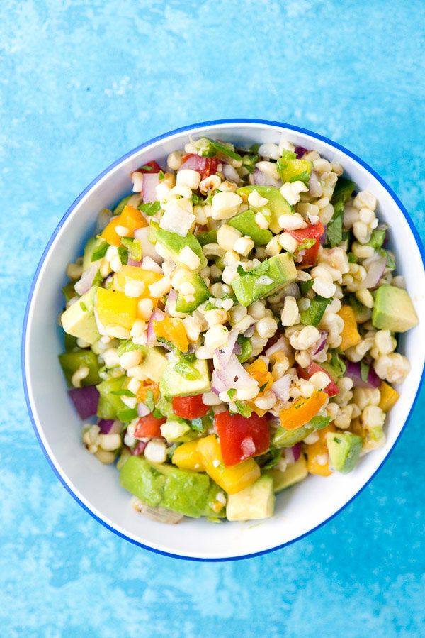 "<strong>Get the <a href=""http://boulderlocavore.com/grilled-sweet-corn-salsa/"" target=""_blank"">Grilled Sweet Corn Salad recip"