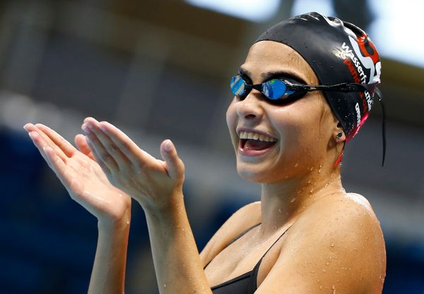 Yusra Mardini is an 18-year-old swimmer from Syria. She's also a refugee. For the first time in Olympic history, she and seve