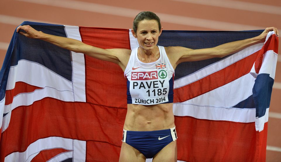 Jo Pavey, representing team Great Britain, has the distinction of being the oldest track athlete in Olympic history (she