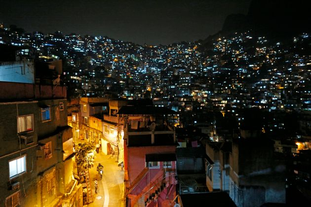 A general view of the Rocinha favela. Roughly 20 percent of Rio's population live in