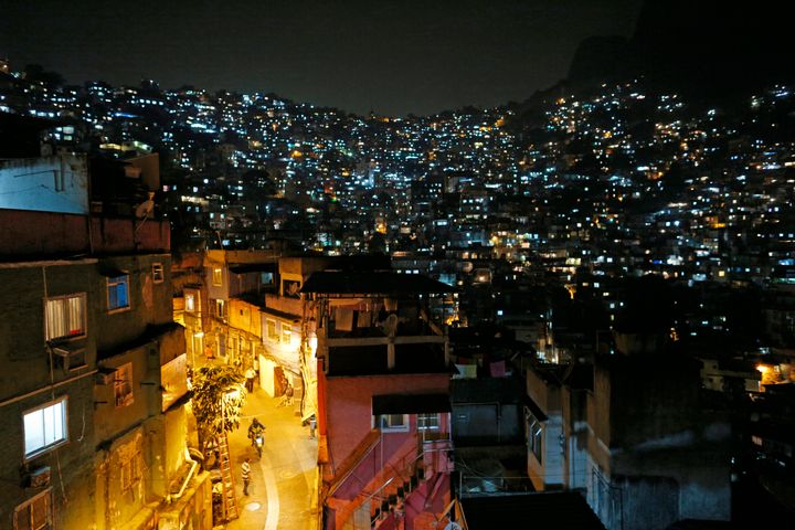 A general view of the Rocinha favela. Roughly 20 percent of Rio's population live in slums.