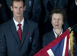 Andy Murray Kicks Off The Olympics By Almost Hitting Princess Anne In The Face