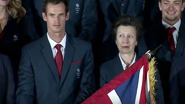 Andy Murray Kicks Off The Olympics By Almost Hitting Princess Anne In The