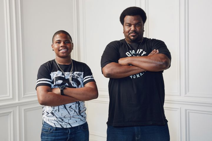 Actors Markees Christmas, right, and Craig Robinson, left.