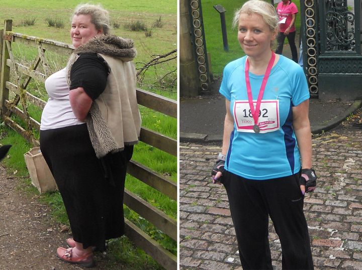 Jill Whitham before and after her drastic weight loss
