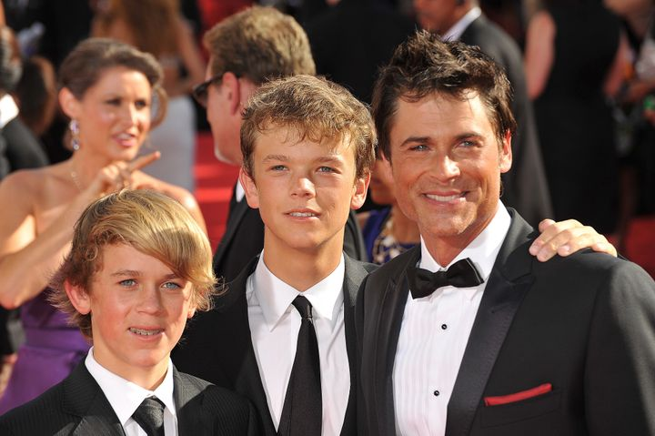 Rob Lowe and his two sons Matthew and John Owen.