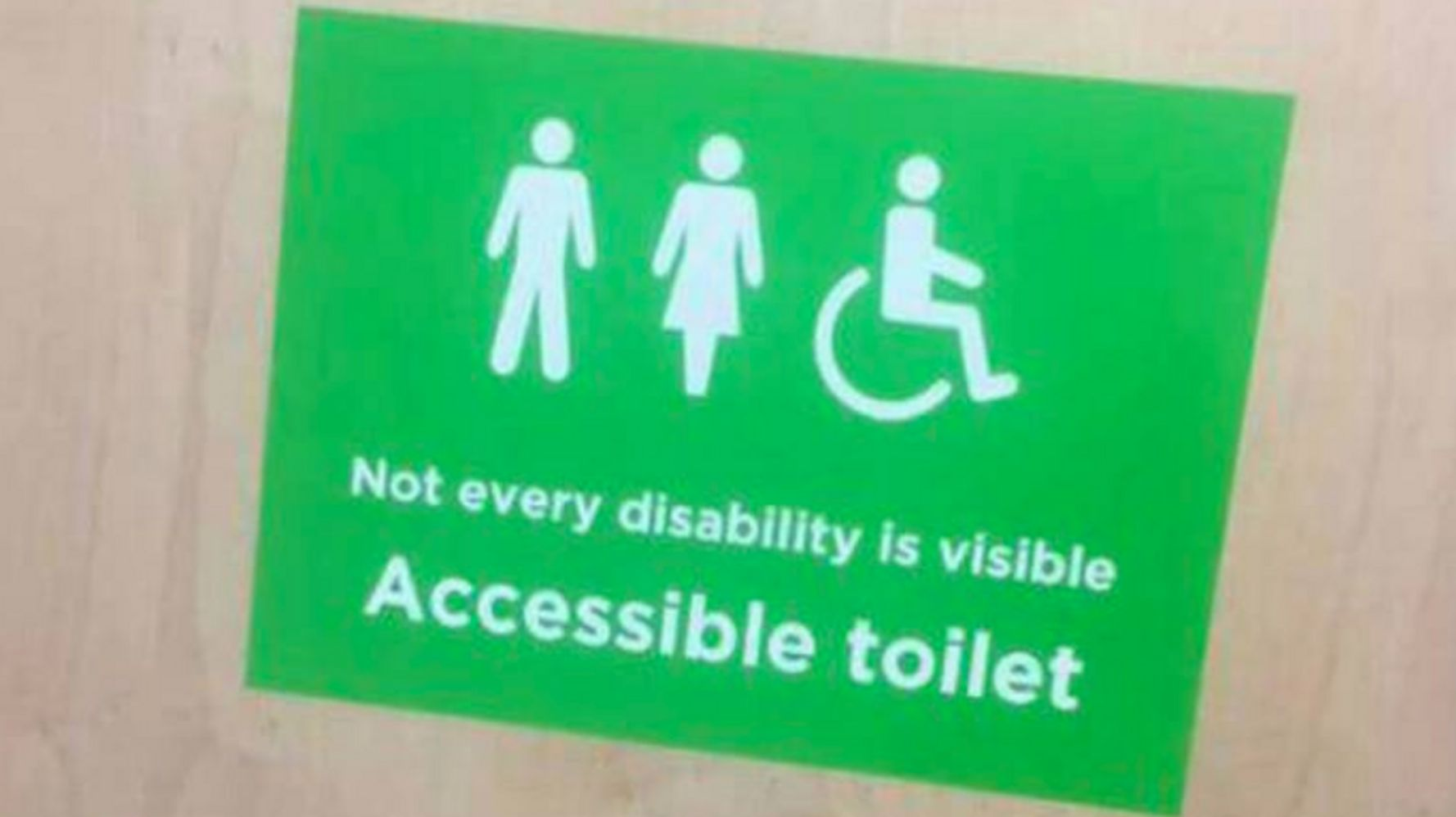 Asda's New Disabled Toilet Sign Praised By People With