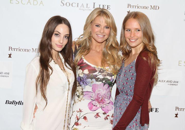 Christie Brinkley poses with daughters Alexa Ray Joel and Sailor Lee Brinkley Cook.