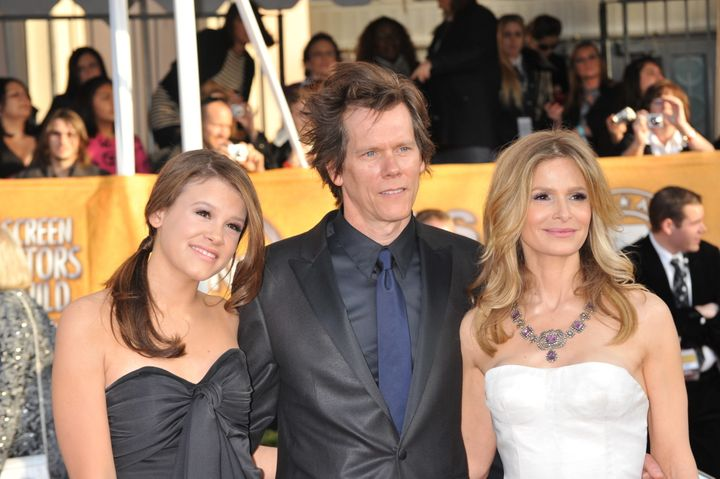 Kyra Sedgwick, Kevin Bacon and their daughter Sosie Bacon.