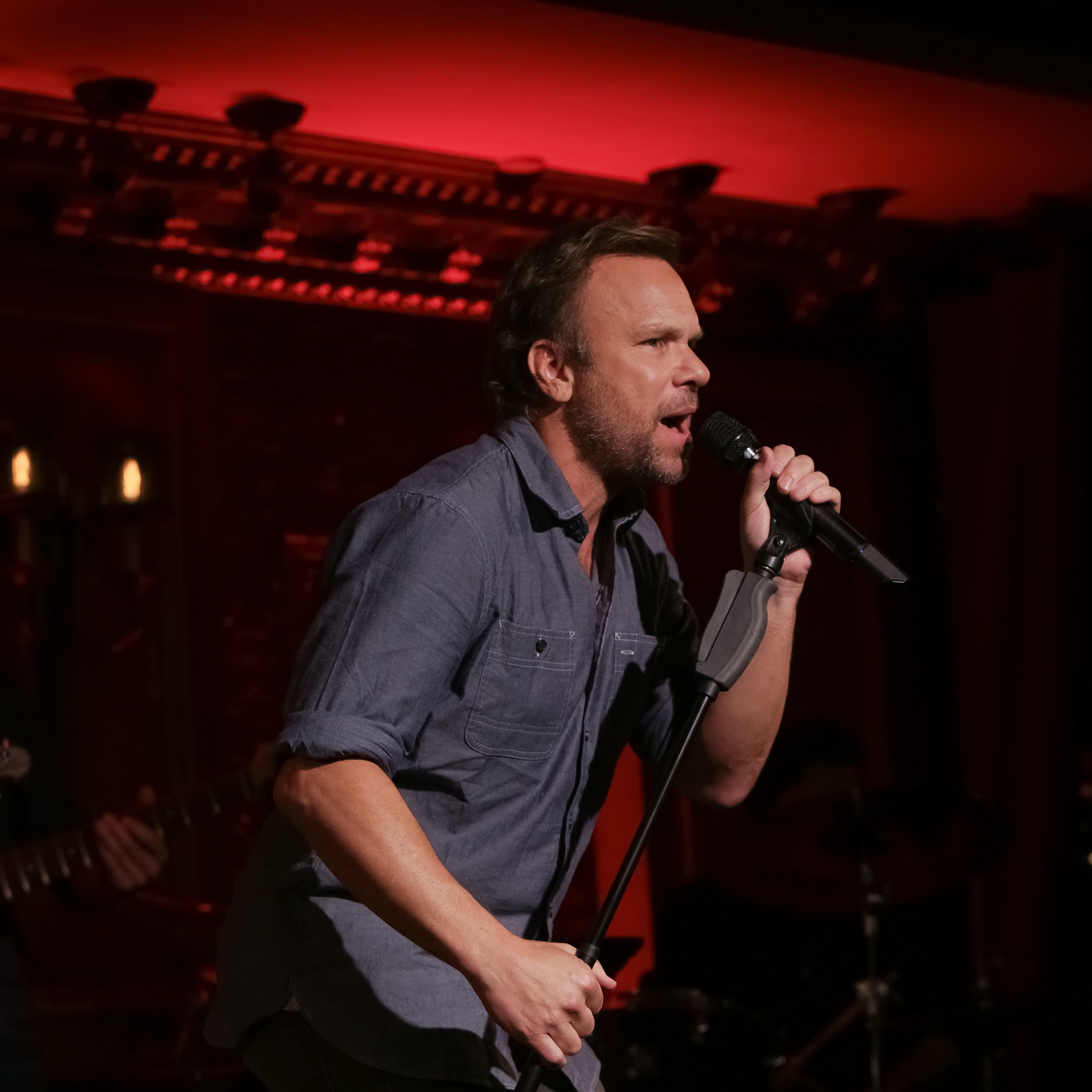 NEW YORK, NY - AUGUST 03:  Actor/singer Norbert Leo Butz performs on stage during the Feinstein's/54 Below press preview held at 54 Below on August 3, 2016 in New York City.  (Photo by Brent N. Clarke/FilmMagic)