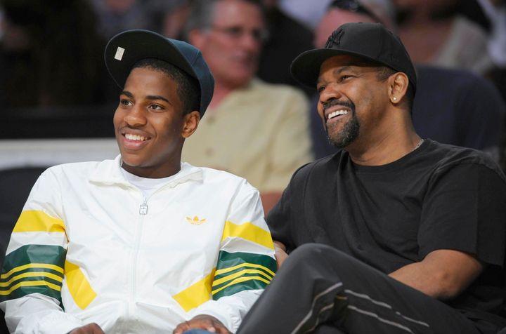 Denzel Washington and his son Malcolm.