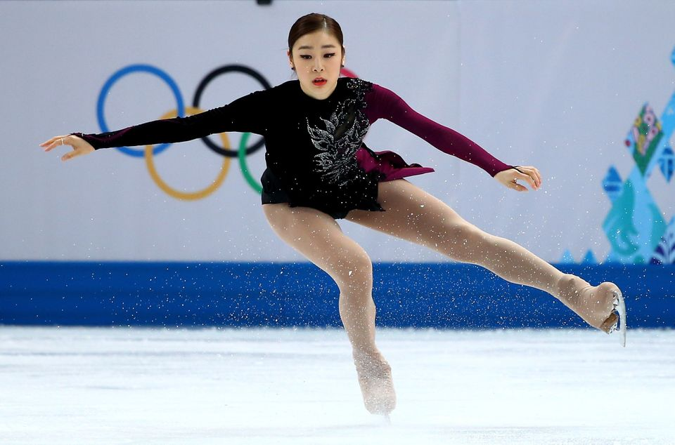Yuna Kim of South Korea competes in the Women's Figure Skating Free Program on day 13 of the Winter Olympics at Iceberg