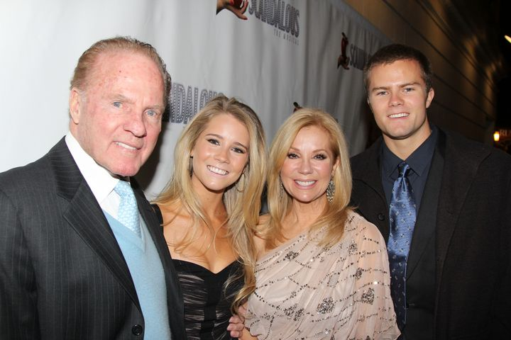 Kathie Lee Gifford with her late husband Frank Gifford and their children Cody and Cassidy.