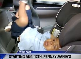 Rambunctious Toddler Steals The Show In Hilarious Car Seat Demo