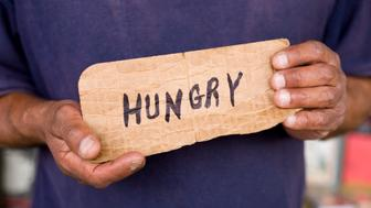 HUNGRY homeless plea in Santa Fe, New Mexico