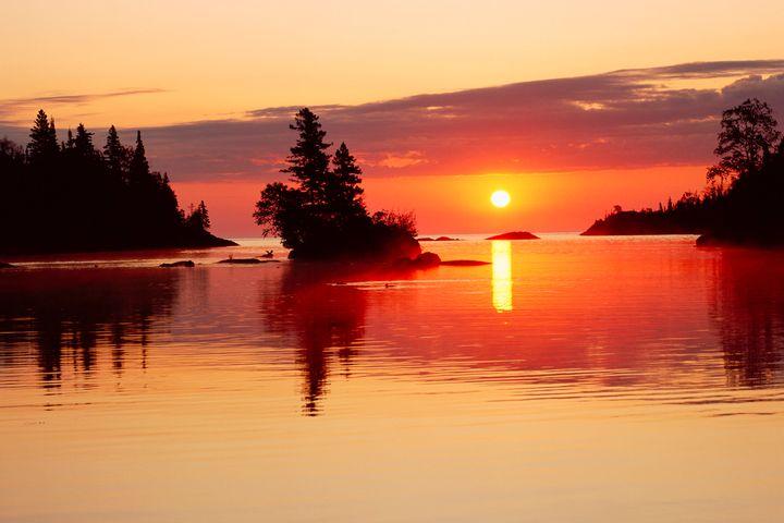 Sunrise at Isle Royale National Park's Chippewa Harbor.