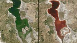Why A Giant Green Lake Turned