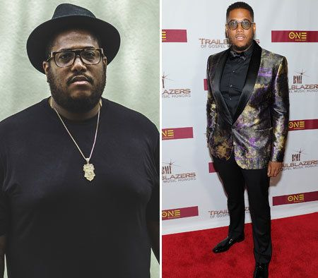 Guordan Banks before (Left) and after (Right) his eight month weight loss journey.
