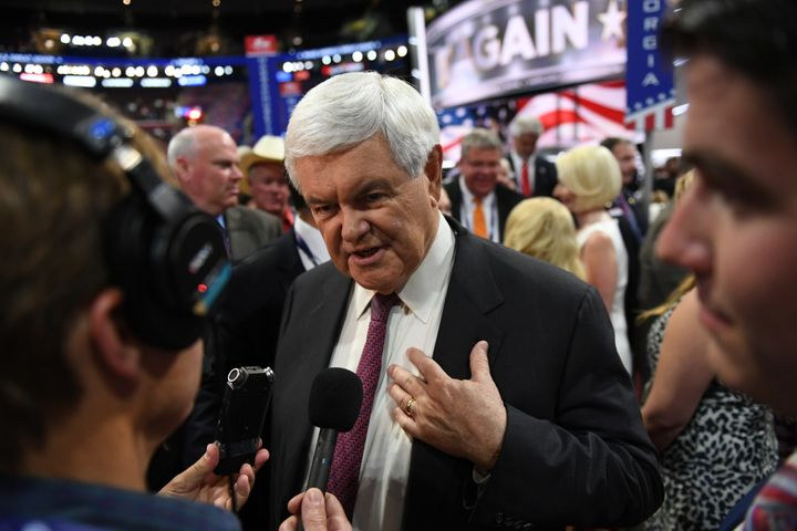A newt is a slender-bodied amphibian. Newt Gingrich is a slippery politician.