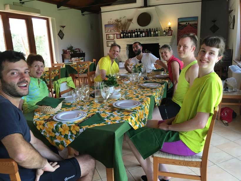 Lunch at a farmhouse along the road
