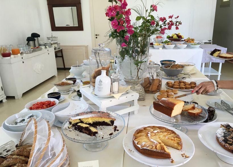 The breakfast spread in one of ourhotels