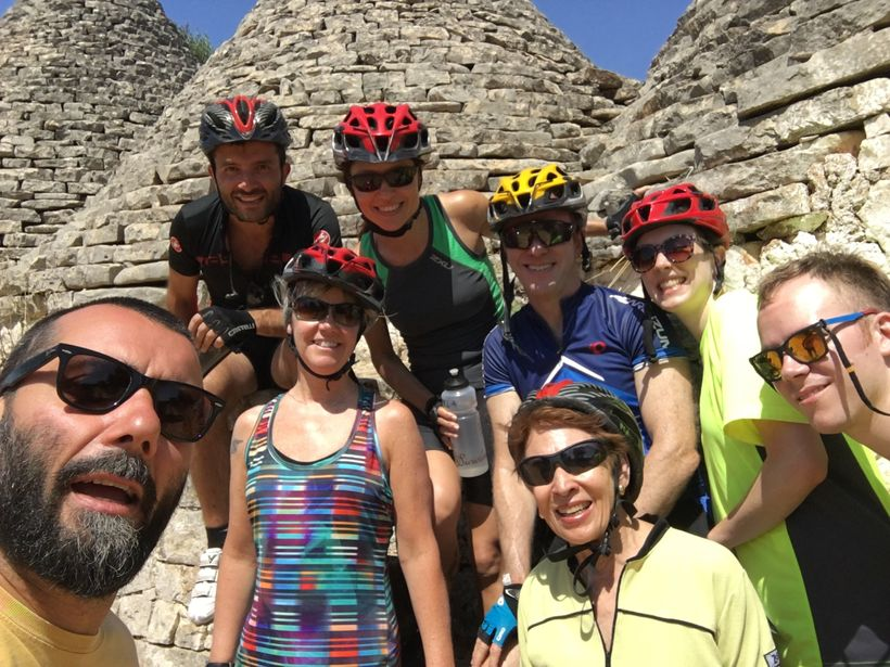 Family selfie with our guides, Luca and Andrea