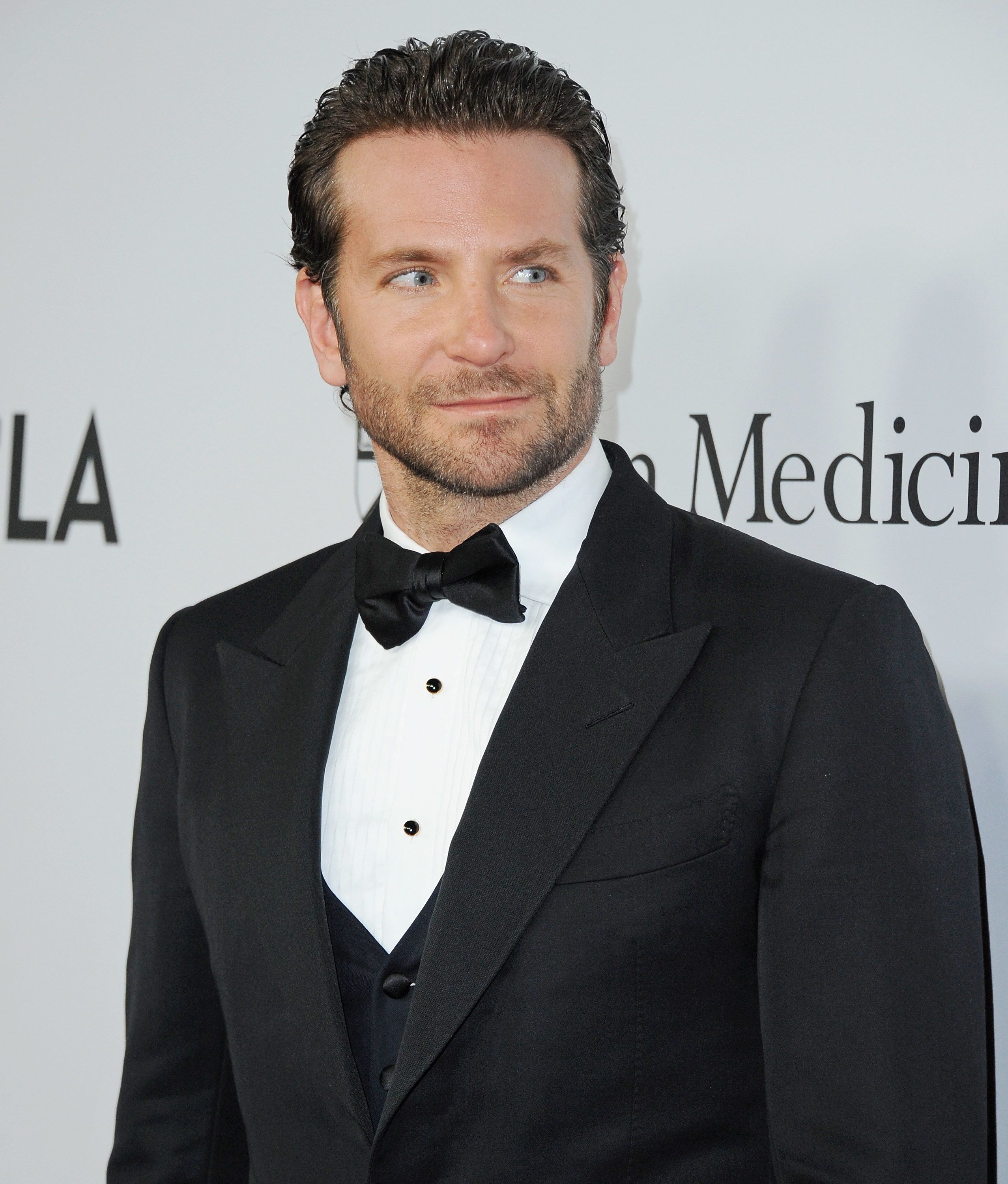 LOS ANGELES, CA - APRIL 13:  Actor Bradley Cooper arrives at Sean Parker And The Parker Foundation Launch The Parker Institute For Cancer Immunotherapy Gala on April 13, 2016 in Los Angeles, California.  (Photo by Jon Kopaloff/FilmMagic)