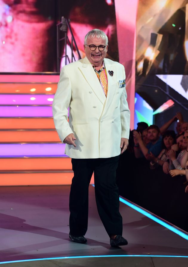 Christopher Biggins is seen entering the Celebrity Big Brother house at Elstree Studios in Borehamwood,
