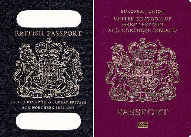 The Government has 'no immediate plans' to reintroduce the traditional navy blue British passports in...