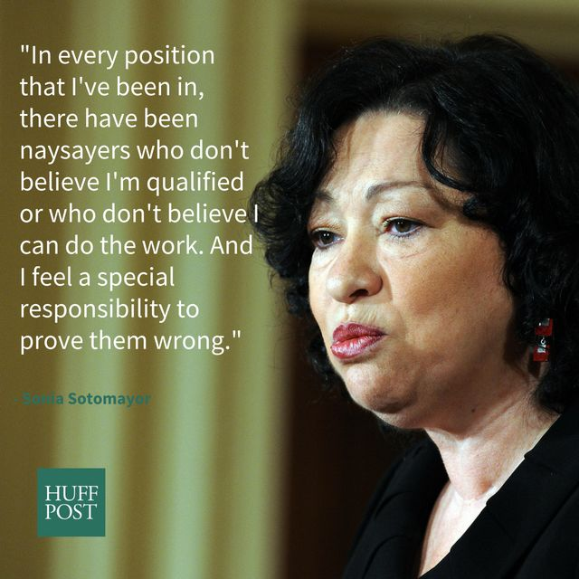 """During an interview with <a href=""""http://www.npr.org/2014/01/13/262067546/as-a-latina-sonia-sotomayor-says-you-have-to-work-h"""