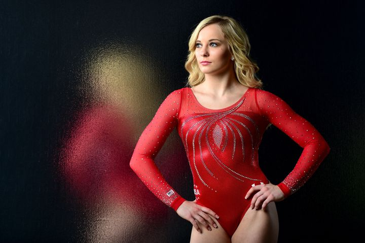 Gymnast MyKayla Skinner poses for a portrait in Los Angeles in November 2015.