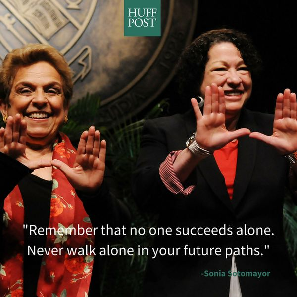 She then went on to remind grads that success is sweetest when shared with friends, colleagues and life partners.