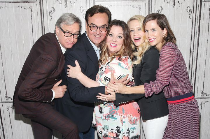 Paul Feig, Steve Higgins, Melissa McCarthy, Kate McKinnon and Kristen Wiig on July 12 in New York City.
