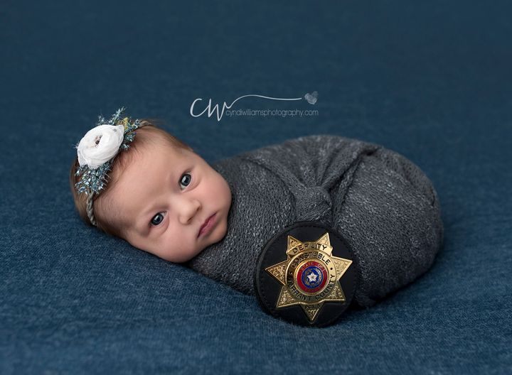Destiny Hall wanted to honorthe police officer who played a key role in her baby's delivery.