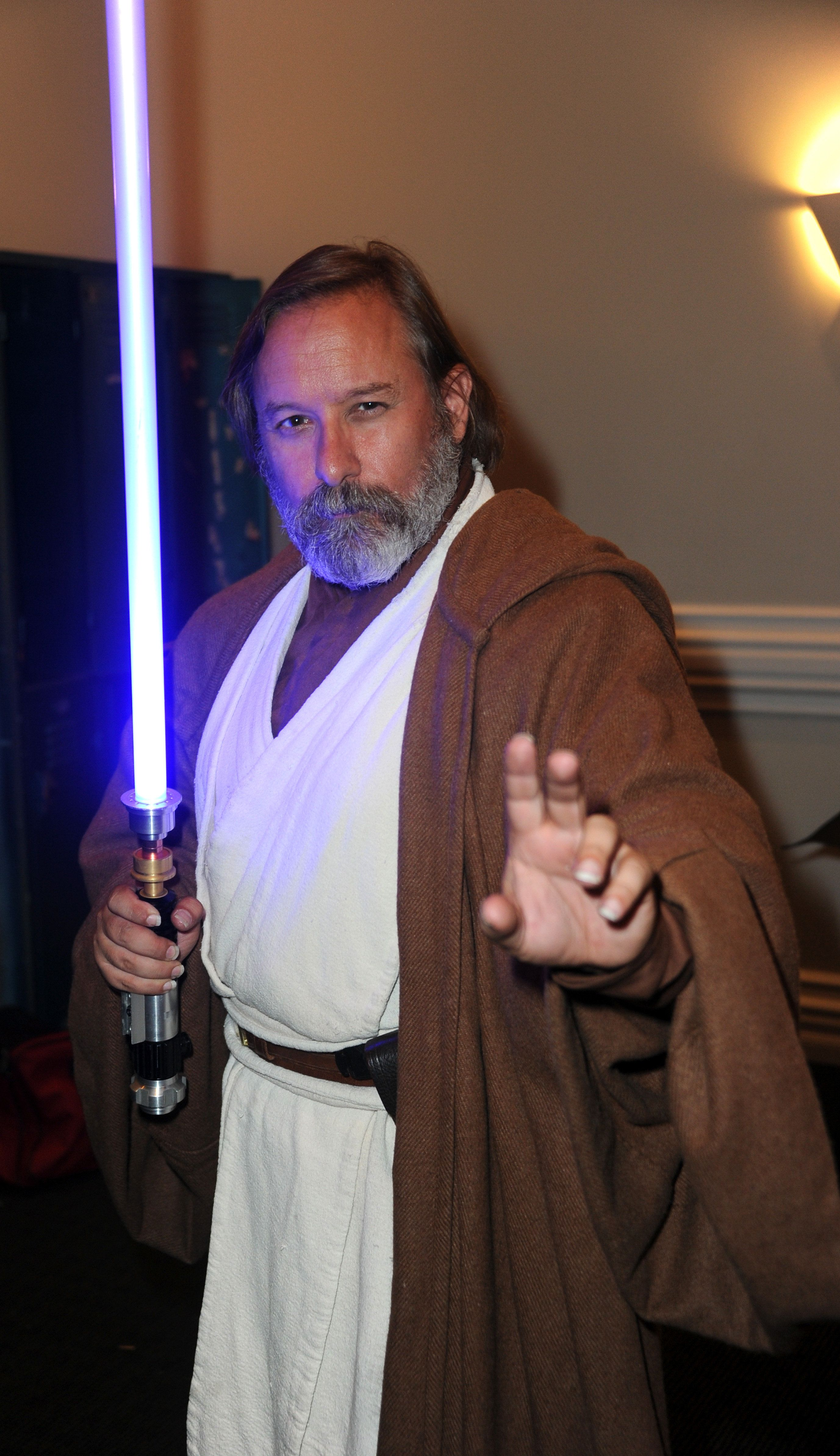 BURBANK, CA - JUNE 22:  Cosplayer Shawn Crosby as ObiWan Kenobi at the 42nd Annual Saturn Awards - After Party held at The Castaway on June 22, 2016 in Burbank, California.  (Photo by Albert L. Ortega/Getty Images)
