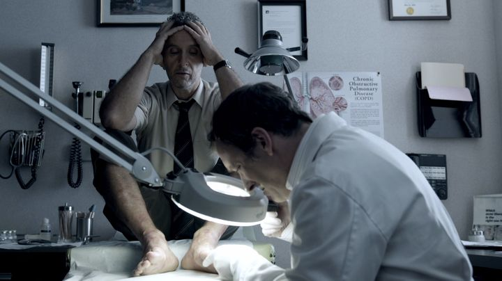 """John Turturro as John Stone in """"The Night Of."""" He visits a dermatologist to get help for his eczema."""