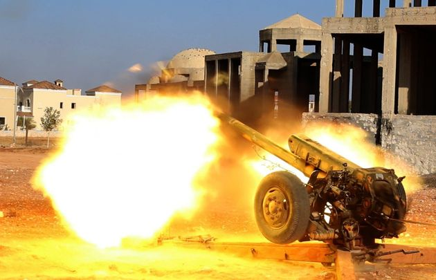 Opposition forces attack the artillery college in Aleppo on Friday. Taking control of the military complex...