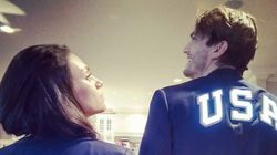 Ashton Kutcher And Mila Kunis In Matching Olympics Outfits Deserve A