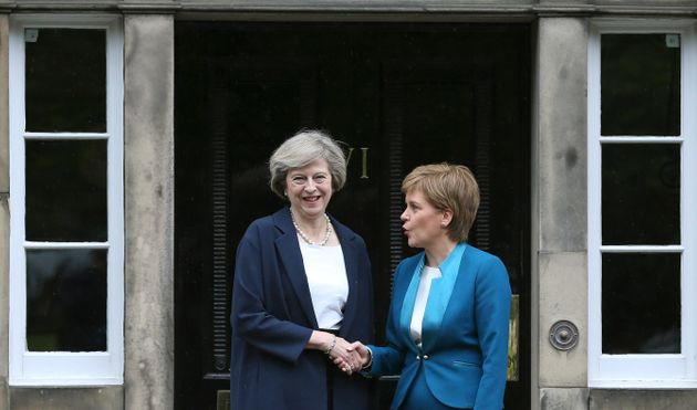 Scotland's First Minister, Nicola Sturgeon with Prime Minister Theresa May in